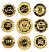 Golden sale labels retro vintage design collection