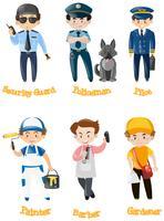 Männer, die verschiedene Arten von Jobs erledigen