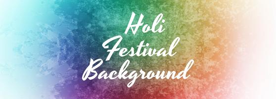 Colorful happy holi celebration banner template design vector