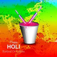 Festival de colores feliz holi celebración tarjeta vector