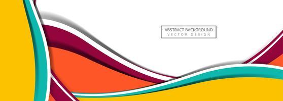 Beautiful colorful business stylish wave background