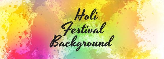 illustration of colorful Happy Holi header template