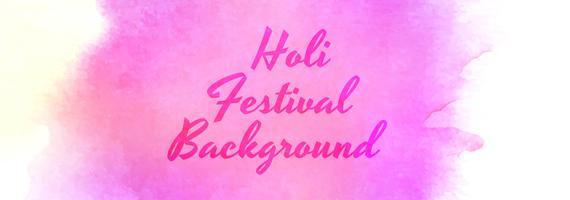 Vector de bandera hermosa celebración festival holi