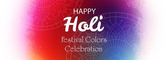 Diseño de plantilla de banner de celebración feliz colorido holi