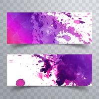 Abstracte kleurrijke aquarel koptekst instellen vector