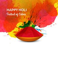 Festival of Colors  happy holi celebration card vector