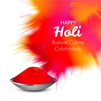 Happy holi colorful celebration for card background vector