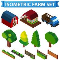 3D design for barn and trees vector