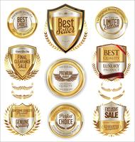 Golden sale labels retro vintage design collection