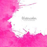 Vecteur abstrait aquarelle rose