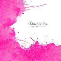 Vecteur abstrait aquarelle rose