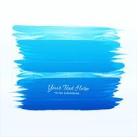 Blå akvarell streck vektor