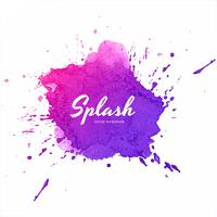 Abstract colorful soft watercolor splash vector