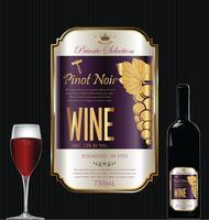 Luxe gouden wijnetiket