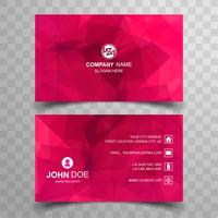 Elegant polygon business card set template design