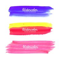 Main dessiner aquarelle Strokes set vector