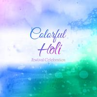 Festival indiano celebrações de feliz Holi com cores vetor