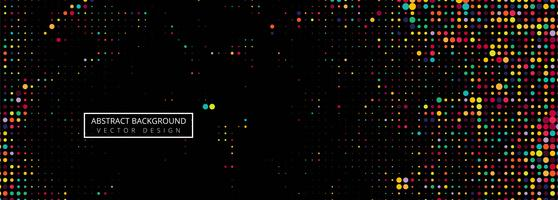 Black background of spots colorful halftone vector