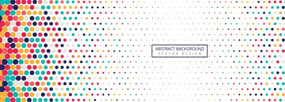 Background of spots colorful halftone banner vector template