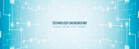 Abstract technology banner template background