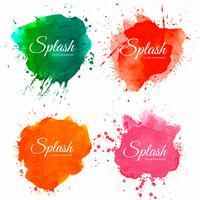 Vacker mjukt vattenfärg stänk design