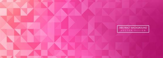 Modèle de conception bannière coloré abstrait polygone