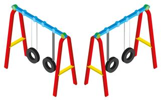 3D design for swings vector