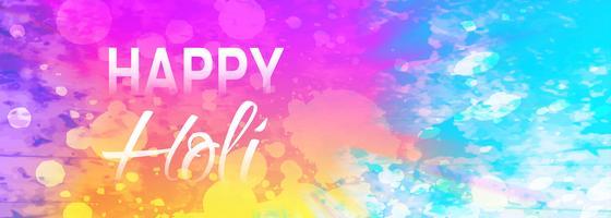 Fond de bannière colorée festival joyeux holi
