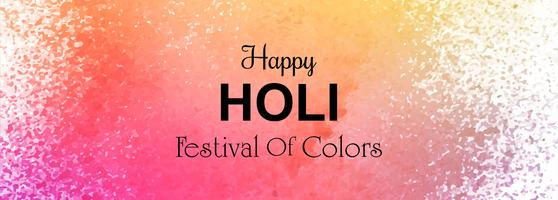 illustration av färgglada Happy Holi header mall