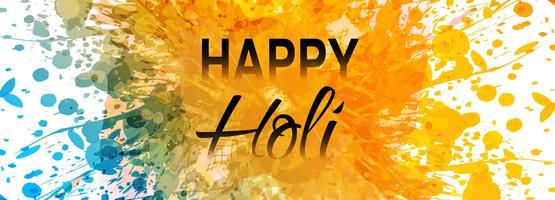 Celebração colorido feliz holi bandeira tamplate