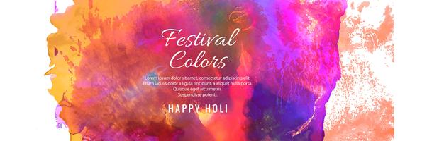 Projeto colorido da bandeira do festival indiano feliz da mola de Holi
