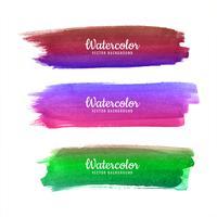 Abstracte aquarel kleurrijke lijnen vector