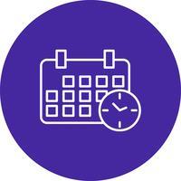 Icono de calendario vector
