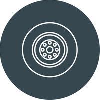 Icône de roue de vecteur
