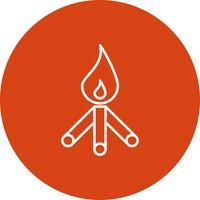Icono de fuego vector
