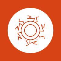 vector eye blood icon