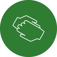 Vektor Hand schütteln Symbol