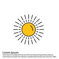 Icona del sole vettoriale