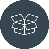 Icône de boîte de vecteur