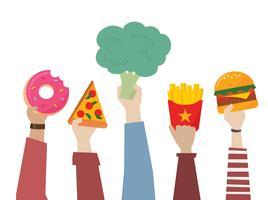 Opción de comida saludable