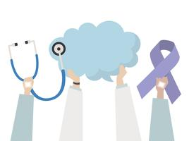Illustratie van gezondheid en ziekte