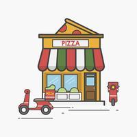 Illustration av pizza vektor set
