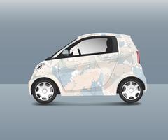 Kompakt hybridbil med speciell designvektor