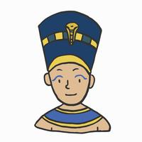 Hand drawn young pharaoh, Egyptian king