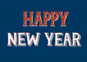 Felice anno nuovo design tipografia