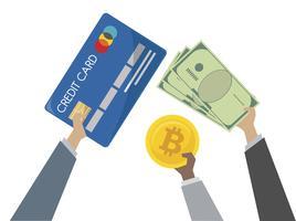 Illustration av valutaväxling och bank