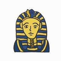La maschera di Tutankhamon, faraone egiziano