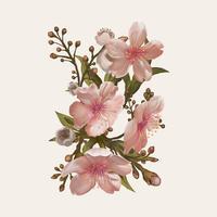 Abbildungzeichnung der Aquarellblume
