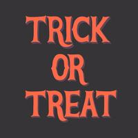Trick or treat Halloween graphic vector