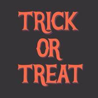 Bedrieg of behandel grafische Halloween